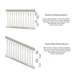 Superior 3000 Series Vinyl Railing - Sections (3000-S)