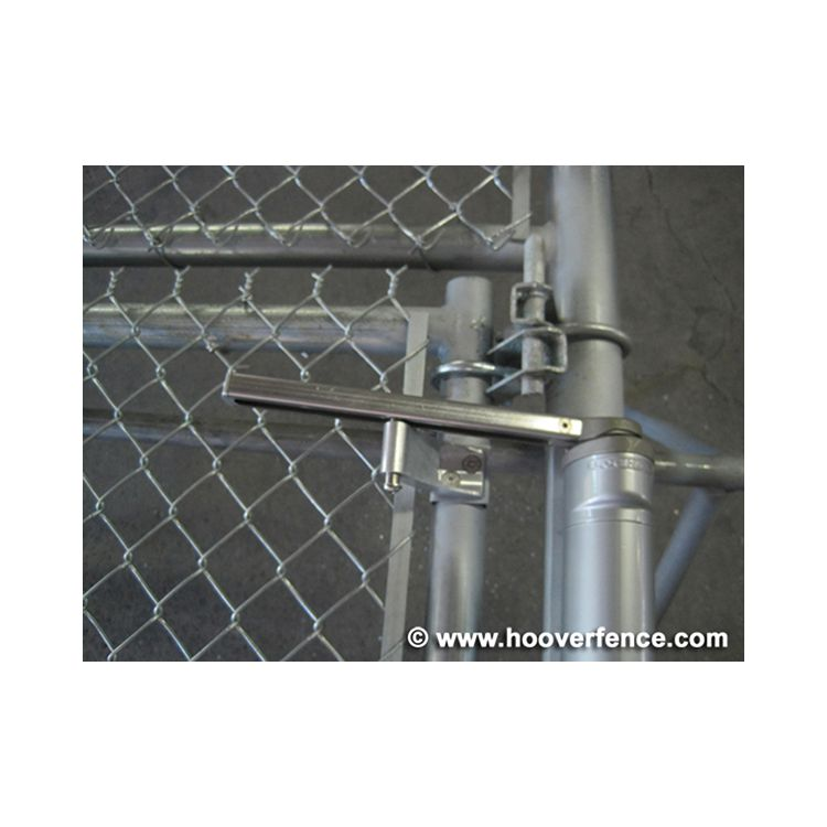 Pre fabricated hung chain link pedestrian gates with