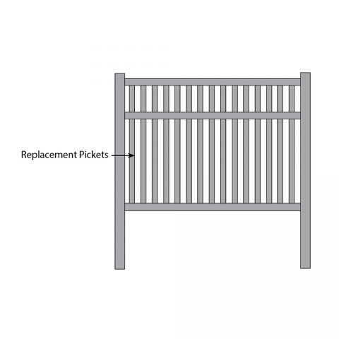 Bufftech Baron Fence - Replacement Pickets