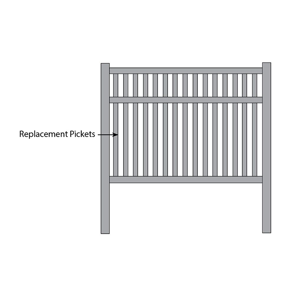 Bufftech Baron Select Cedar Fence - Replacement Pickets