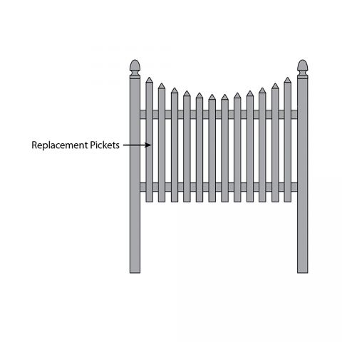 Bufftech Cape Cod Concave Fence - Replacement Pickets