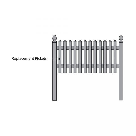 Bufftech Cape Cod Fence - Replacement Pickets