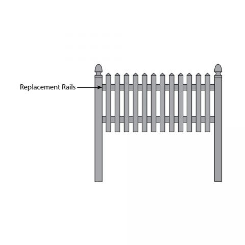Bufftech Cape Cod Fence - Replacement Rails