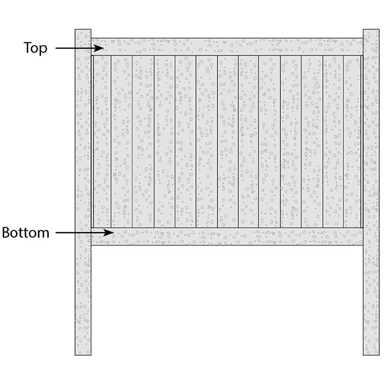 Bufftech Chesterfield CertaStucco Fence - Replacement Rails