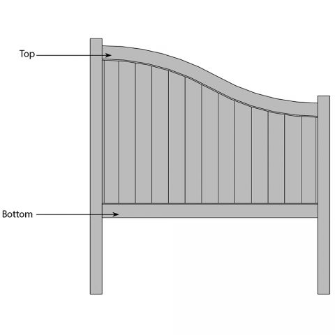 Bufftech Chesterfield S-Curve Fence - Replacement Rails