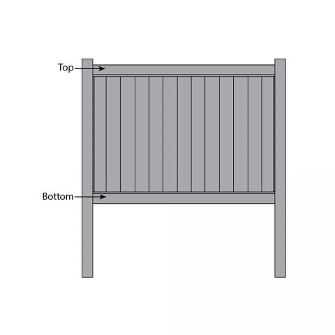 Bufftech Chesterfield CertaGrain Fence - Replacement Rails