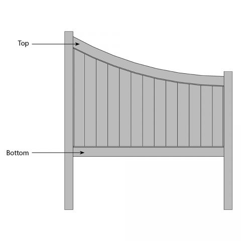 Bufftech Chesterfield CertaGrain Swoop Fence - Replacement Rails