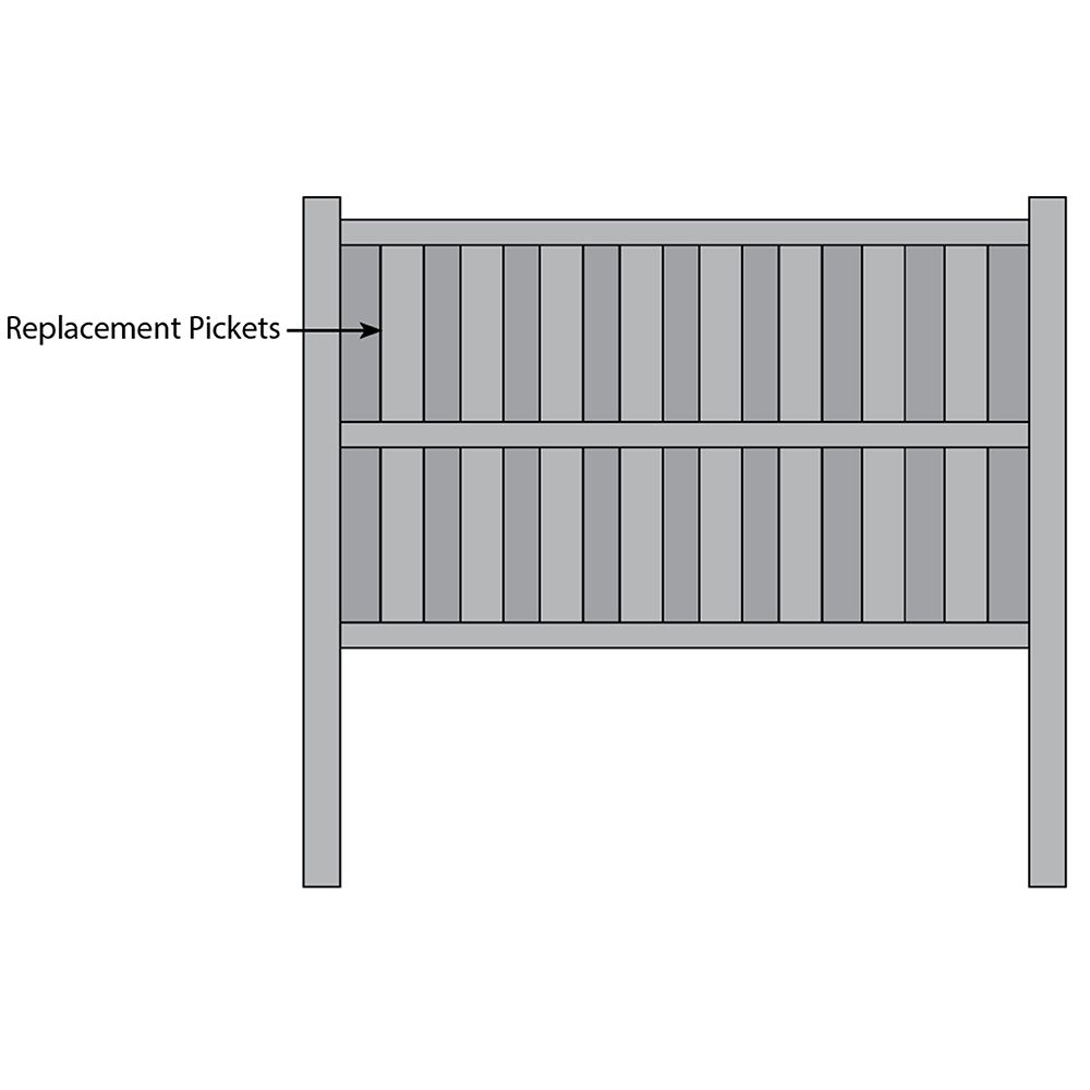 Bufftech Columbia Fence - Replacement Pickets