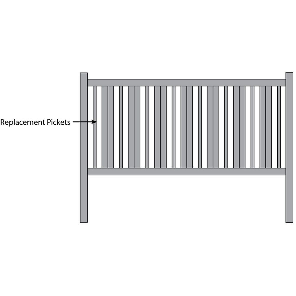 Bufftech Countess Fence - Replacement Pickets