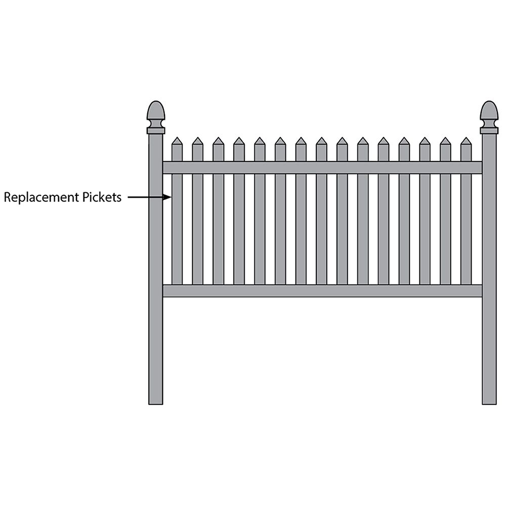 Bufftech Danbury Fence - Replacement Pickets