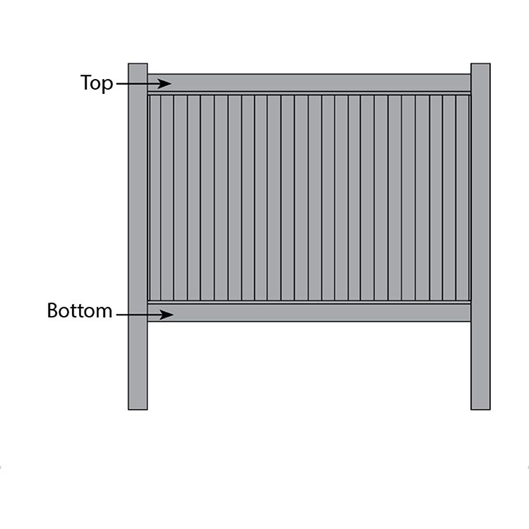 Bufftech New Lexington Fence - Replacement Rails