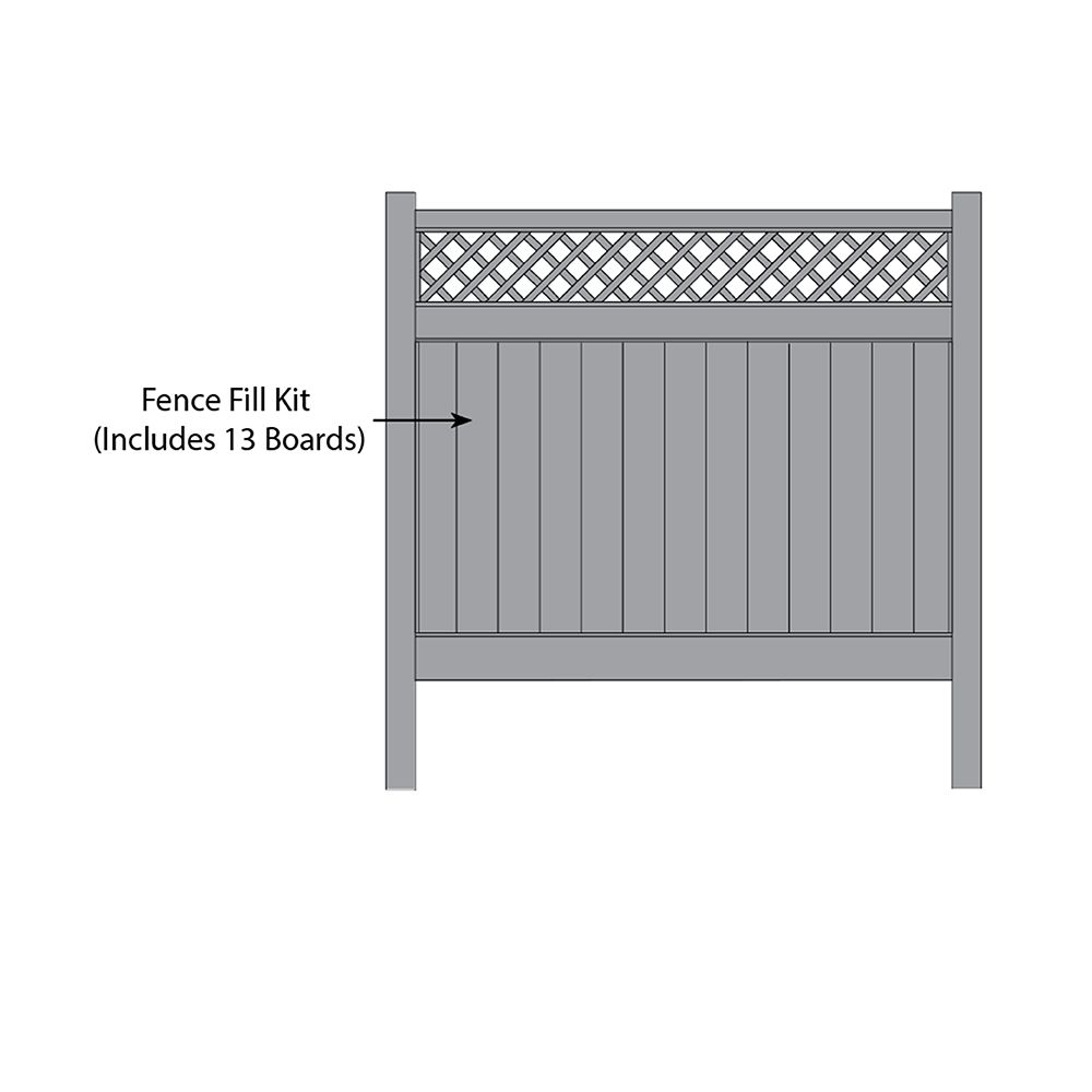 Bufftech Chesterfield CertaGrain w/ Accent Fence Fill Kits