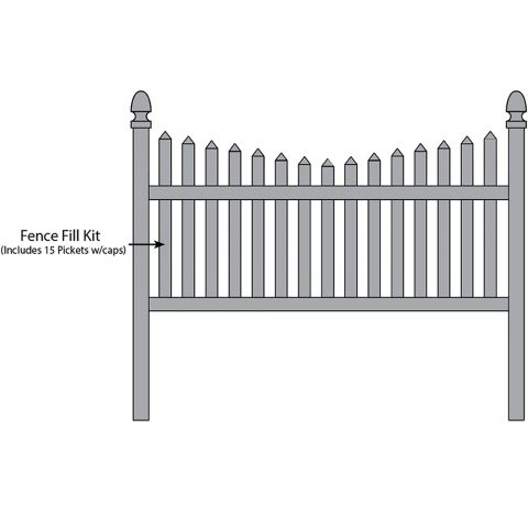 Bufftech Danbury Concave Fence Fill Kits