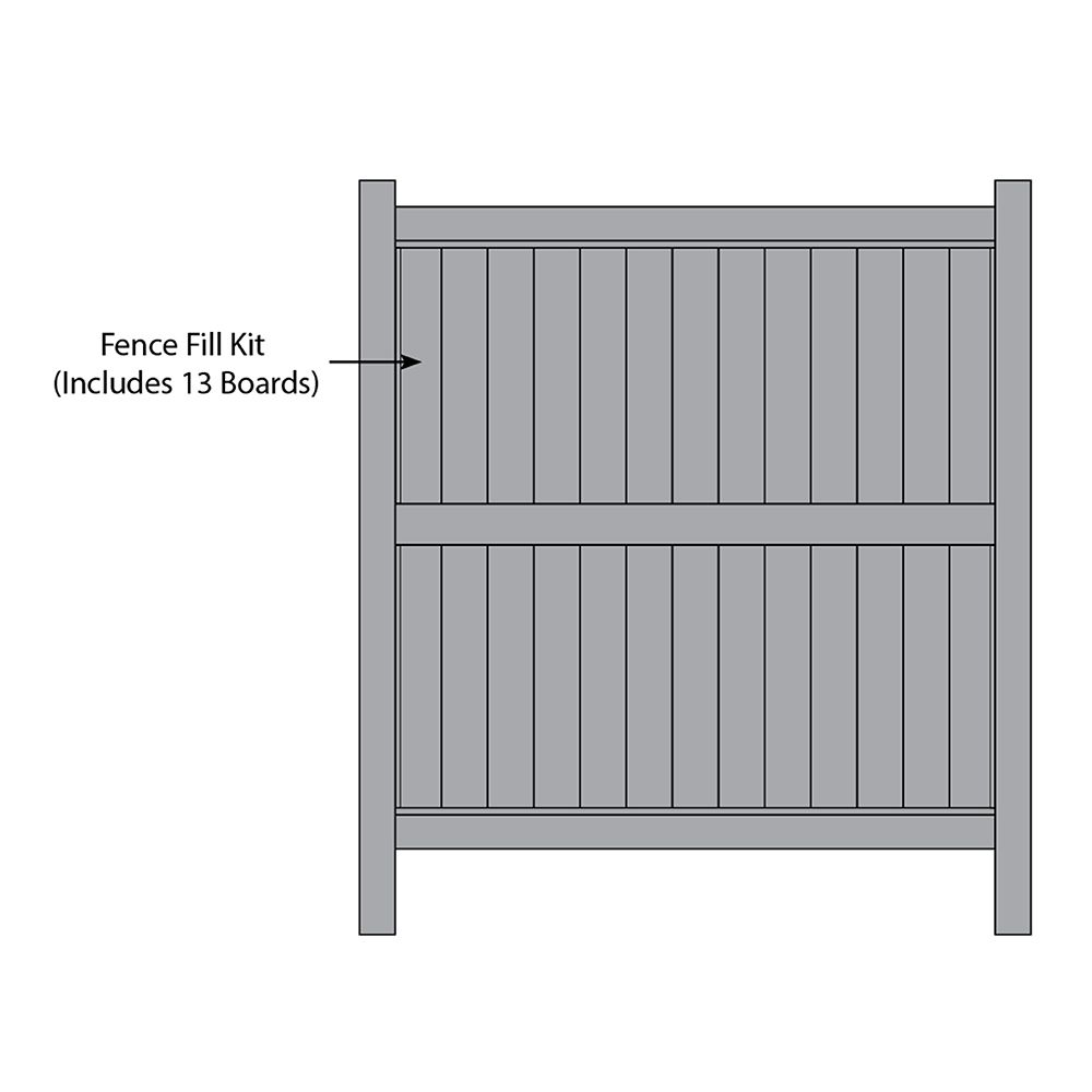 Bufftech Galveston CertaGrain Fence Fill Kits