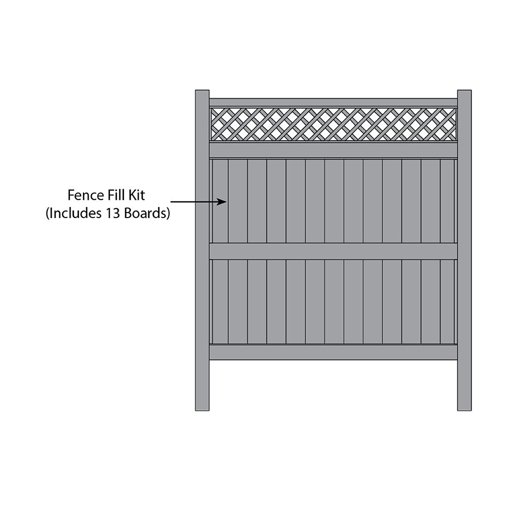 Bufftech Galveston w/ Accent Fence Fill Kits