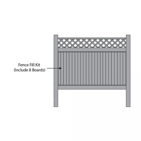 Bufftech New Lexington w/ Lattice Accent Fence Fill Kits