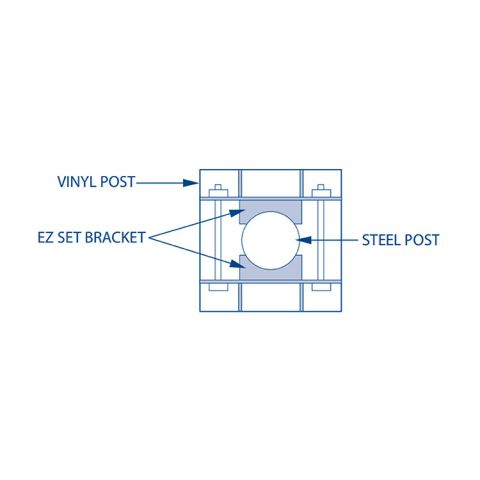 Bufftech EZ Set Post Brackets for Vinyl Posts