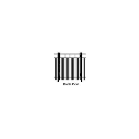Ideal Carolina #403D Single Swing Gate - Double Picket