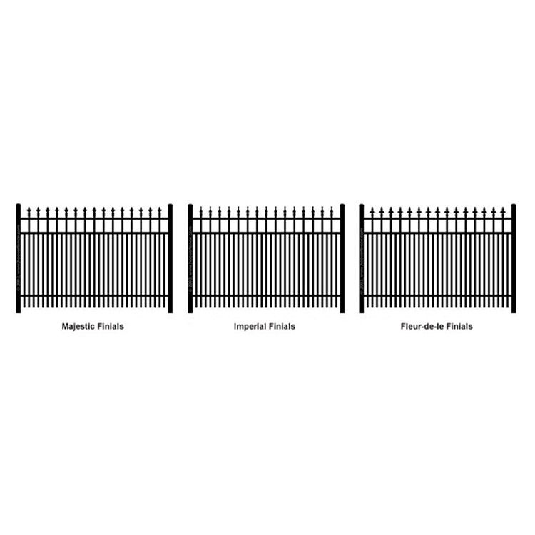 Ideal Finials #600 Double Picket Aluminum Fence Section