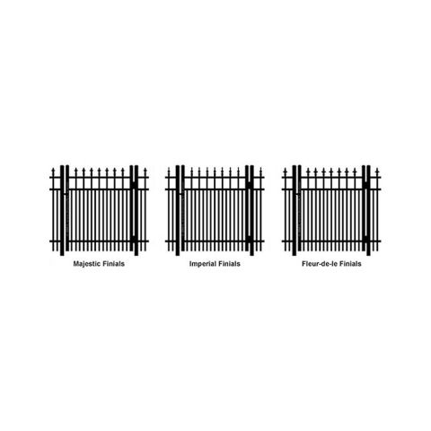 Ideal Finials #600 Single Swing Gate - Double Picket