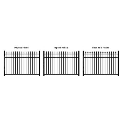 Ideal Finials #600 Modified Aluminum Fence Section