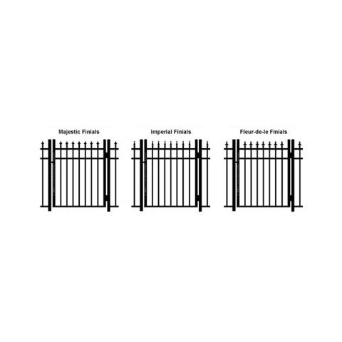 Ideal Finials #600M Aluminum Single Swing Gate - Modified