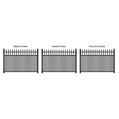 Ideal Finials #600 Modified Double Picket Fence Section