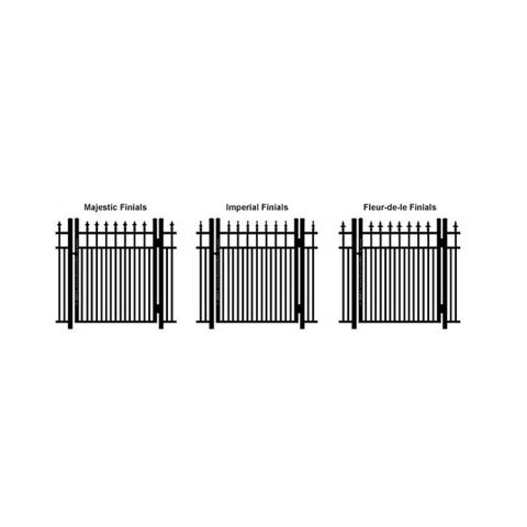 Ideal Finials #600MD Single Swing Gate - Modified Double Picket