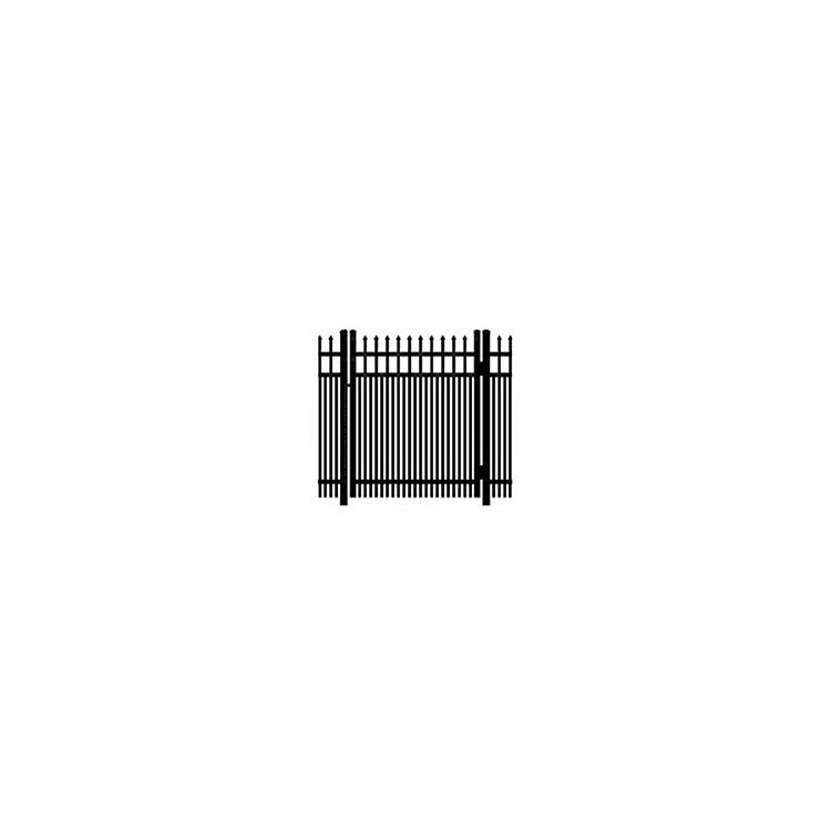 Ideal Maine #203D Aluminum Single Swing Gate - Double Picket