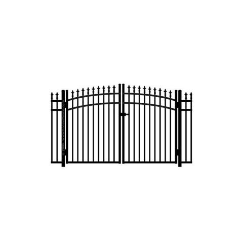 Jerith #111M w/Finials Aluminum Rainbow Double Gate - Modified