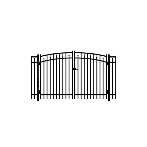 Jerith #211 w/Finials Aluminum Rainbow Double Gate