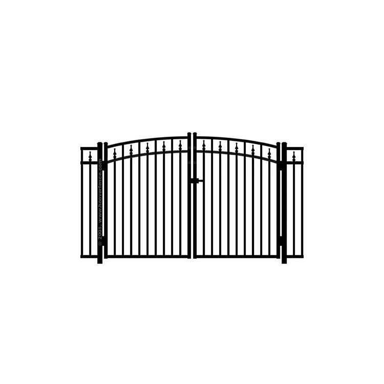 Jerith #211 w/Finials Aluminum Rainbow Double Gate - Modified