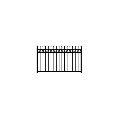 Jerith Buckingham Plus Rings Aluminum Fence Section