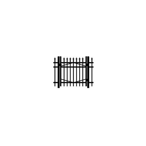 Jerith #I111 Aluminum Single Swing Gate w/Finials