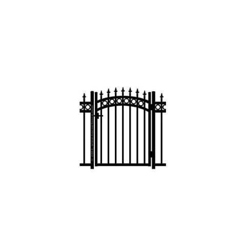 Jerith Kensington Plus Rings w/Finials Aluminum Accent Gate