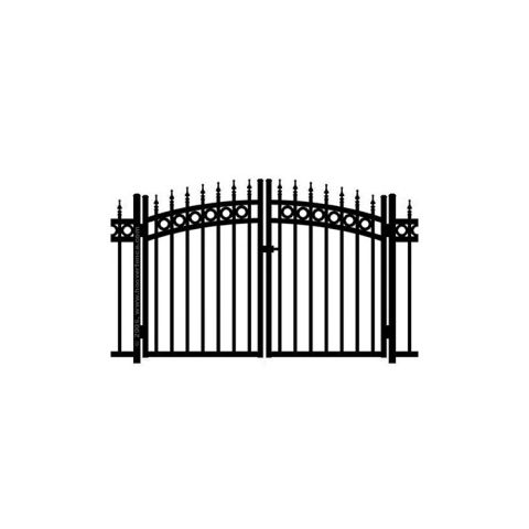 Jerith Kensington Plus Rings w/Finials Aluminum Rainbow Double Gate
