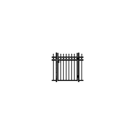 Jerith Kensington Plus Rings Single Swing Gate w/Finials