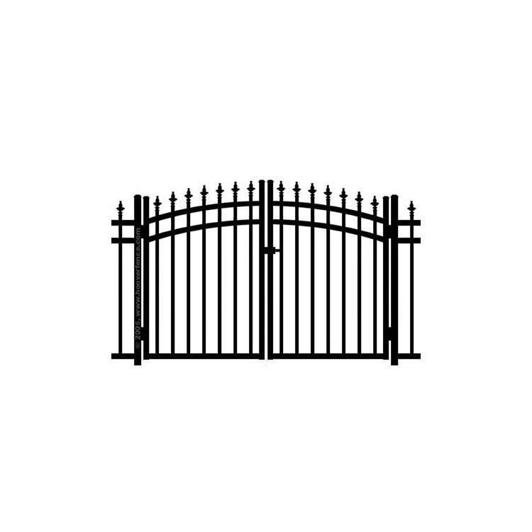Jerith Kensington w/Finials Rainbow Double Gate