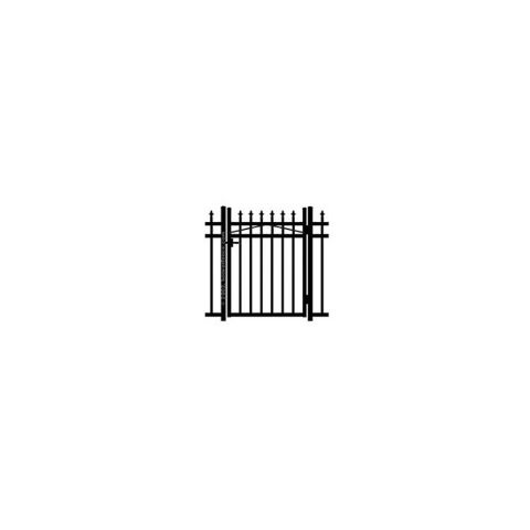 Jerith Kensington Aluminum Single Swing Gate w/Finials