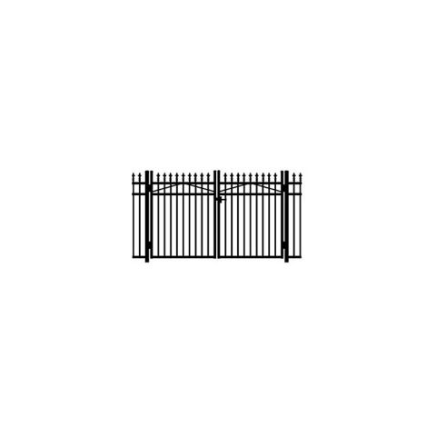 Jerith #111M  w/Finials Aluminum Double Swing Gate - Modified
