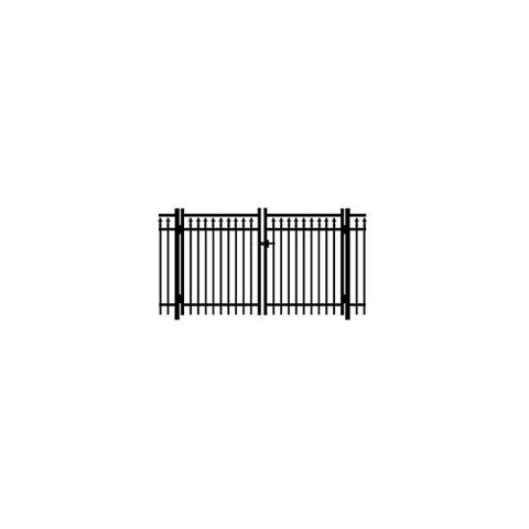 Jerith #211 Aluminum Double Swing Gate w/Finials