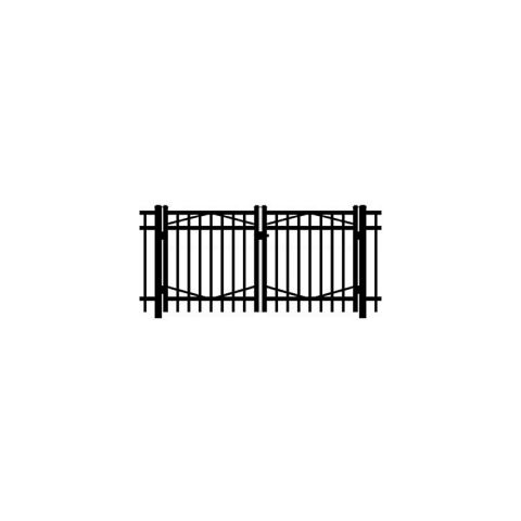 Jerith #I202 Aluminum Double Swing Gate