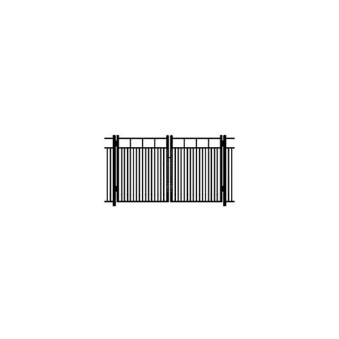 Ideal Carolina #403MD Double Swing Gate - Modified Double Picket