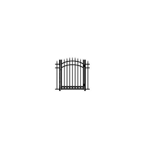 Ideal Finials #6005 Aluminum Arched Walk Gate - Bottom Rings