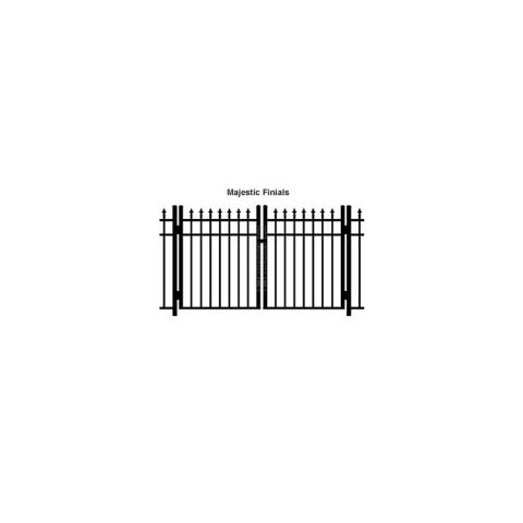 Ideal Finials #600M Double Swing Gate - Modified