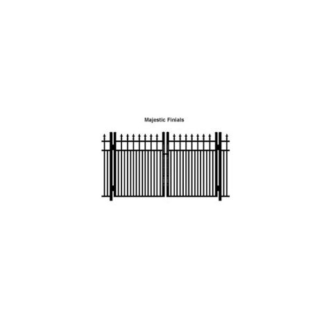 Ideal Finials #600MD Double Swing Gate - Modified Double Picket