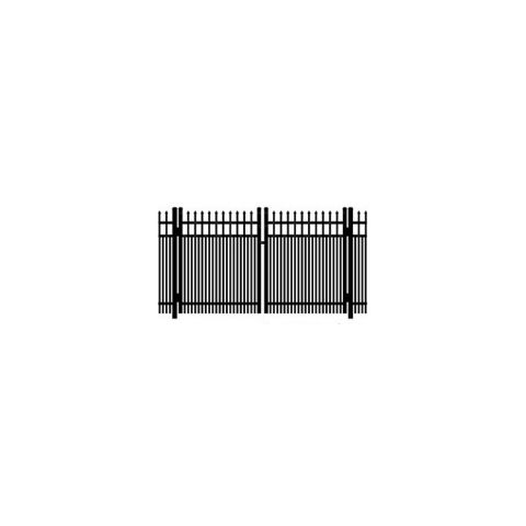 Ideal Maine #203D Aluminum Double Swing Gate - Double Picket