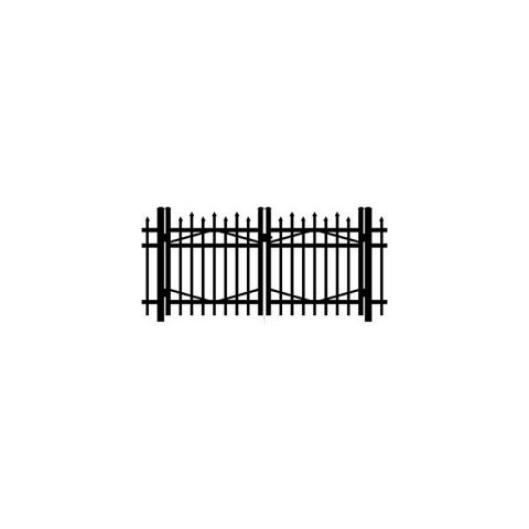 Jerith #I100 Aluminum Double Swing Gate