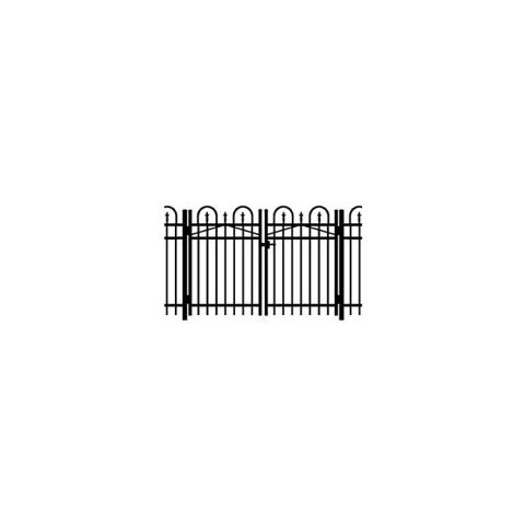 Jerith Concord #111 Aluminum Double Swing Gate w/Finials