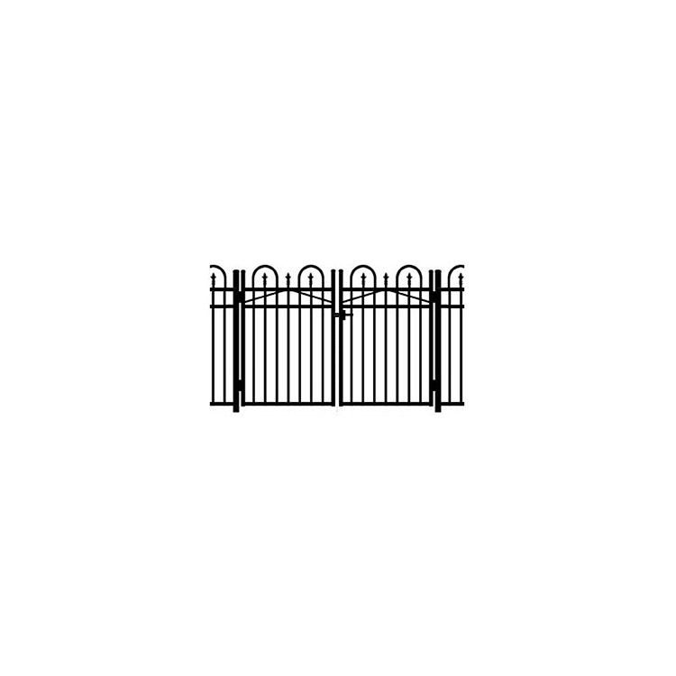 Jerith Concord #111 Modified Double Swing Gate w/Finials